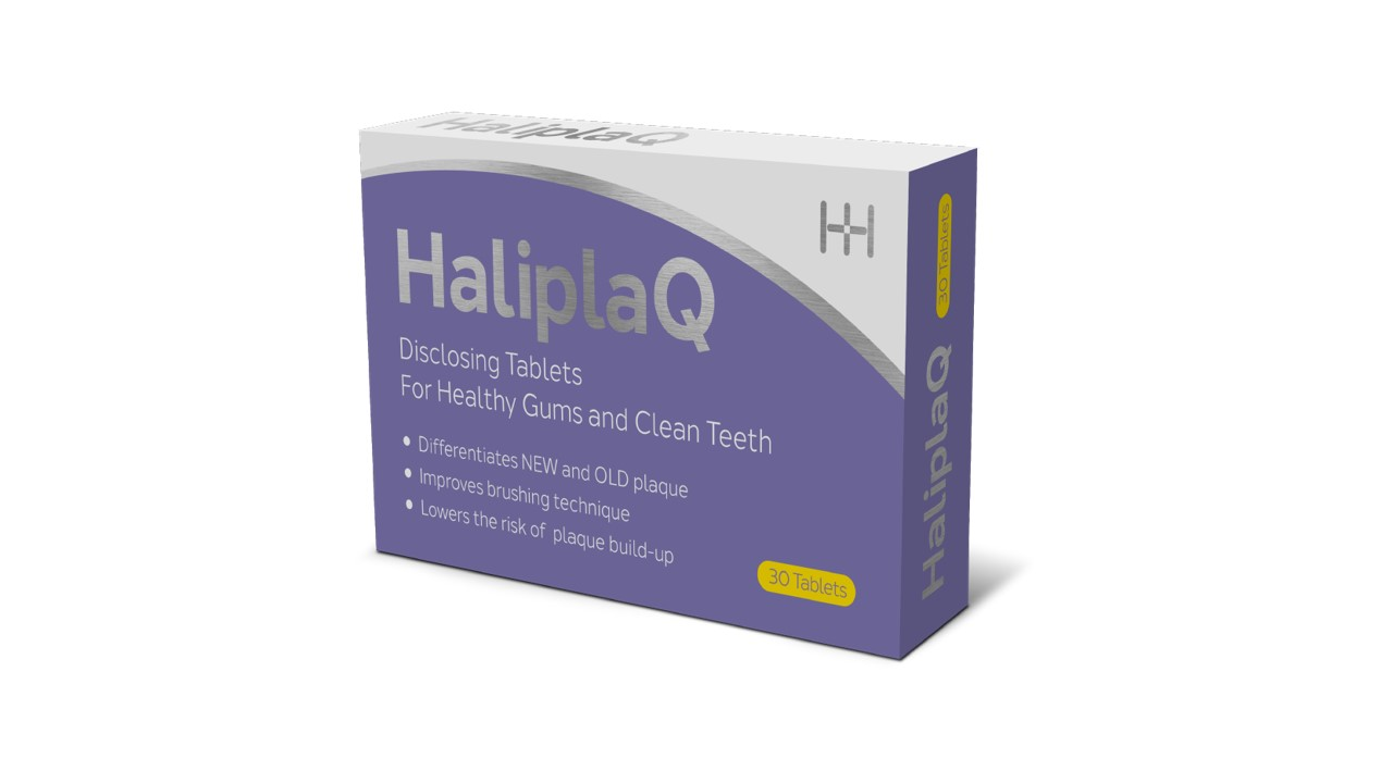 HaliplaQ Disclosing Tablets Carton